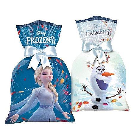 Sacola Surpresa para Lembrancinhas da Frozen 2 - kit com 8 unid