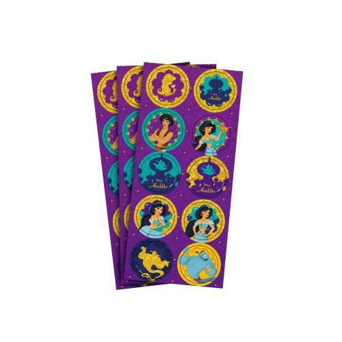Adesivo para Lembrancinhas Aladdin kit com 3 Cartelas.