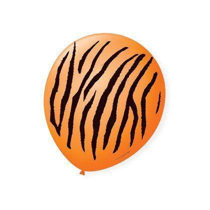 Balão Bexiga Decorada Safare Tigre N 9 pct com 25 unid