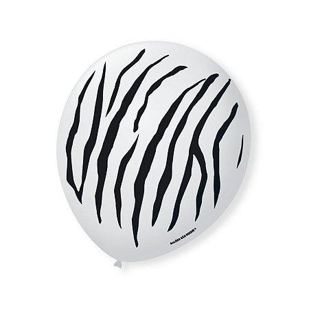 Balão Bexiga Decorada Safare Zebra N 9 pct com 25 unid