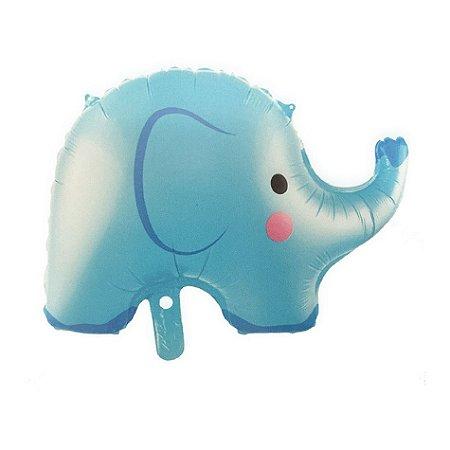 Balão metalizado Elefante Azul