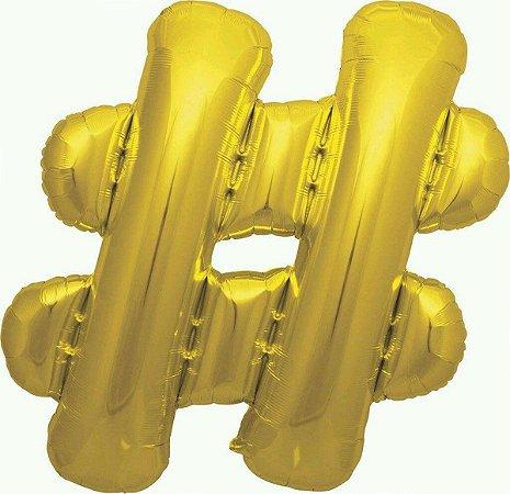 Balão Metalizado Hashtag