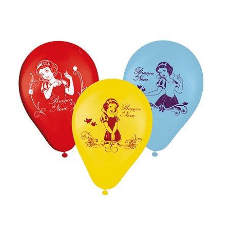 Balões de Aniversário Bexigas da Branca de Neve pacote com 25 unid