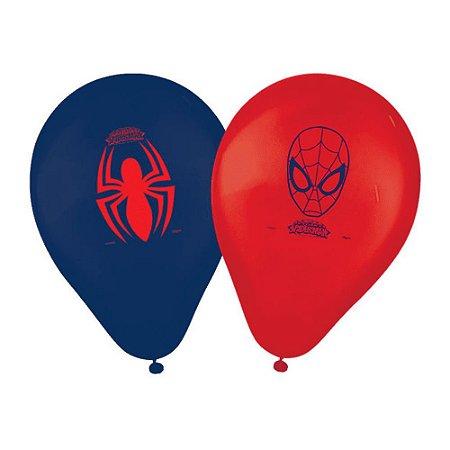 Balões de Aniversário Bexigas do Homem Aranha pct com 25 unid