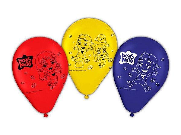 Balões de Aniversário Bexigas do Luccas Neto pacote com 25 unid