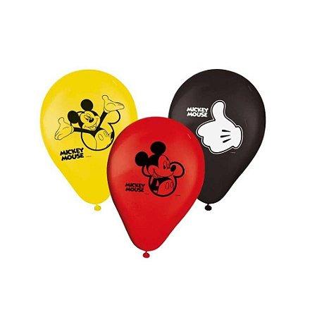 Balões de Aniversário Bexigas do Mickey pacote com 25 unid