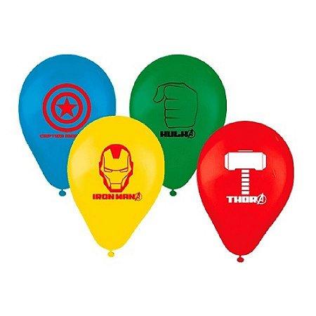 Balões de Aniversário Bexigas dos Avengers pacote com 25 unid