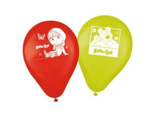 Balões de Aniversário Masha e o Urso pacote com 25 unid