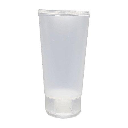 Bisnaga para Creme Hidratante de 110 ml tampa flip top kit com 10 unid