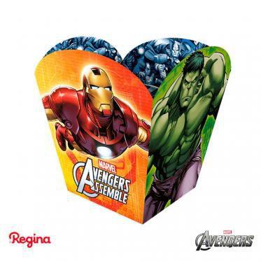 Cachepô para decoração de mesa de Festas Avengers com 8 unid