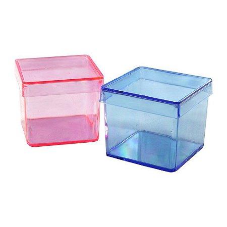 Caixinha de acrílico 5x5 colorida kit com 10 unid
