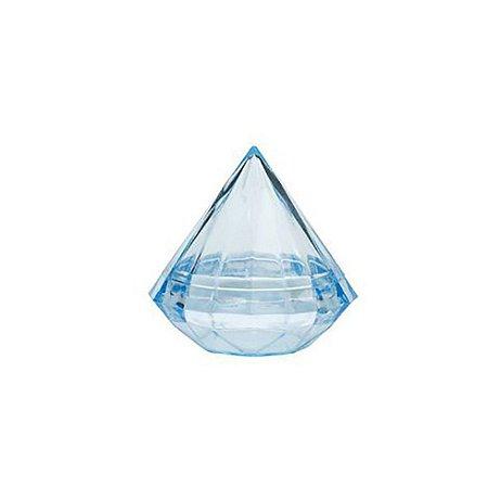 Caixinha de acrílico Diamante Azul kit com 6 unid
