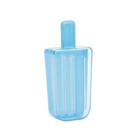 Caixinha de acrílico Picolé Azul kit com 6 unid