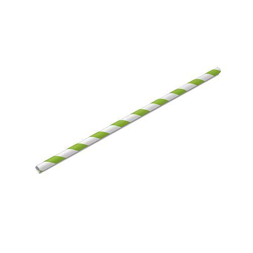 Canudo de Papel Verde Pacote com 100 unid