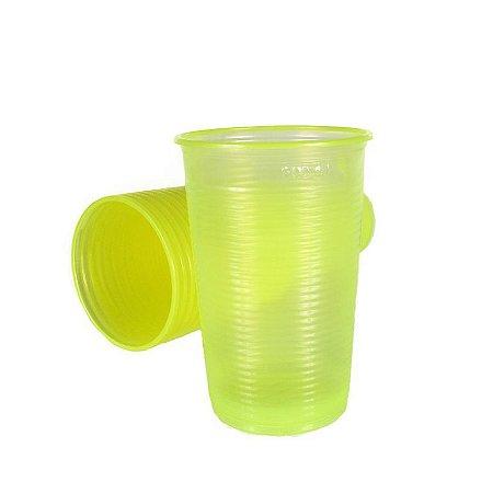 Copo Descartável Amarelo Neon 500 ml pacote com 20 unid