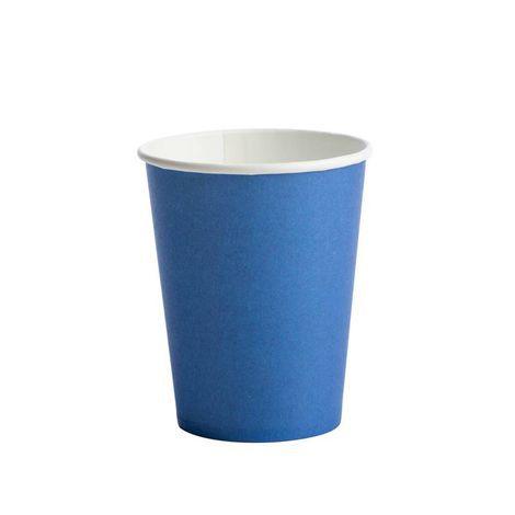 Copo Descartável de Papel 270 ml Liso Azul Escuro pacote c/ 10 unid