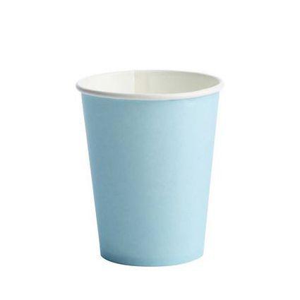 Copo Descartável de Papel 270 ml Liso Azul pacote c/ 10 unid