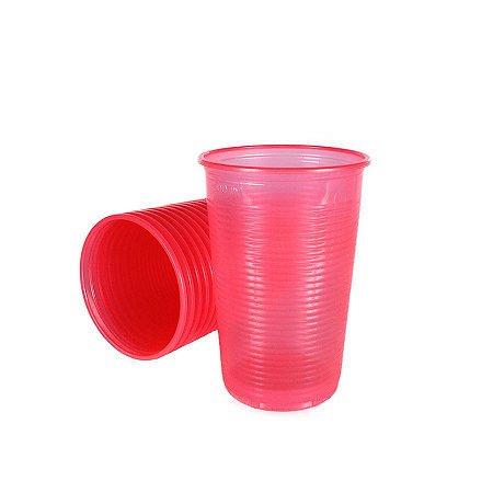 Copo Descartável Rosa Neon 300 ml pacote com 20 unid