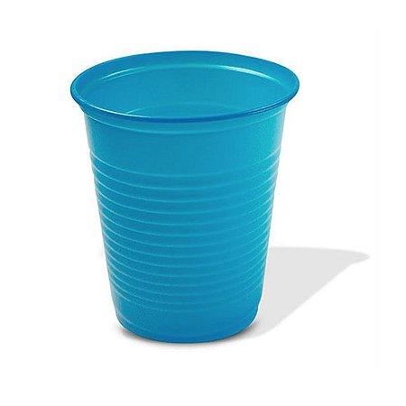 Copo Descartável Simples de 200 ml Azul pacote com 50 unid.
