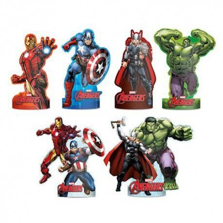 Decoração de Mesa dos Avengers kit com 6 unid