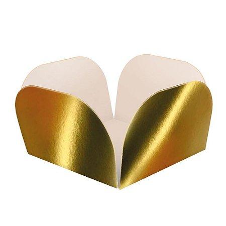 Embalagens para Doces Descartáveis Laminada Dourada Pct com 50 unid