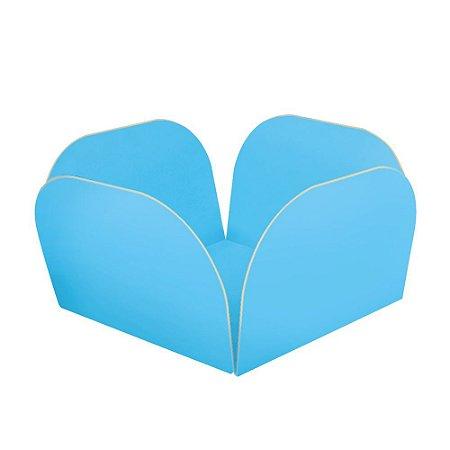 Embalagens para Doces Descartáveis Médio Azul Bebê Pct com 50 unid