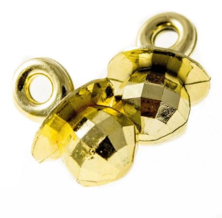 Enfeite de Chupeta para Lembrancinhas Dourado (25 unid.)