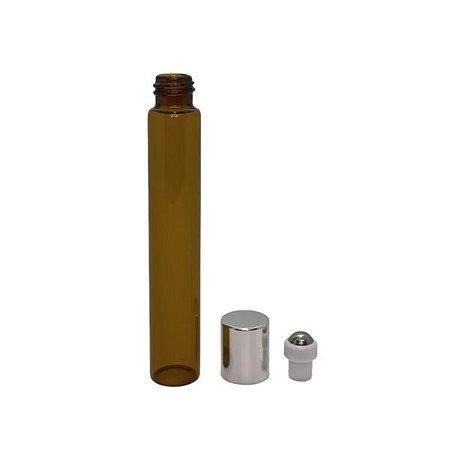 Frasco de Perfume Vazio Roll-on 10 ml âmbar de vidro kit com 10 unid