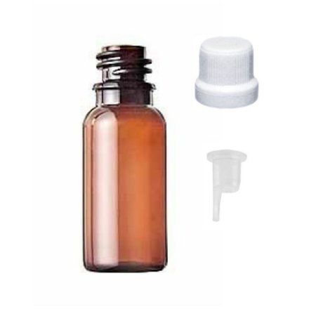 Frasco de plástico PET âmbar gotejador 30 ml kit com 10 unid