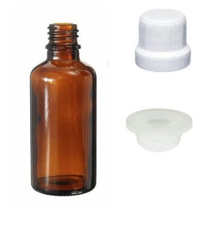 Frasco de vidro âmbar Conta Globulos 30 ml kit com 10 unid