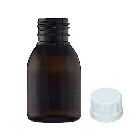 Frasco PET âmbar para Xarope 30 ml com tampa kit com 10 unid