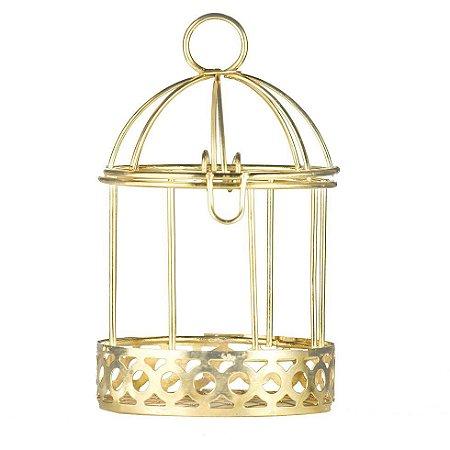 Gaiola Aramada para Lembrancinhas Dourada kit com 4 unid