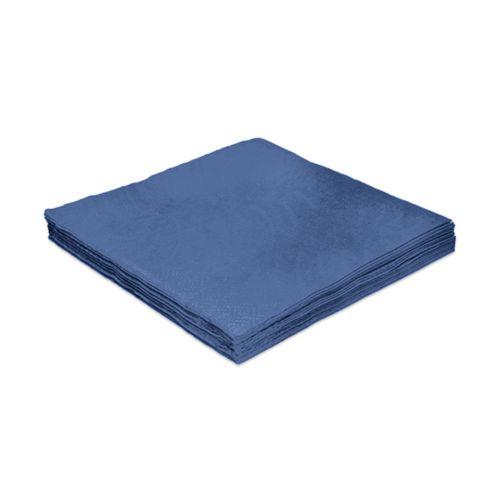 Guardanapo e papel 24 cm Liso Azul Escuro pct 20 unid