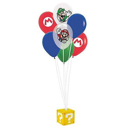 Kit de Balões para Decoração do Super Mario