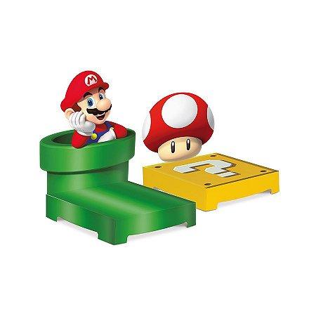 Kit Suporte para Doces e Enfeites de decoração tema Super Mario