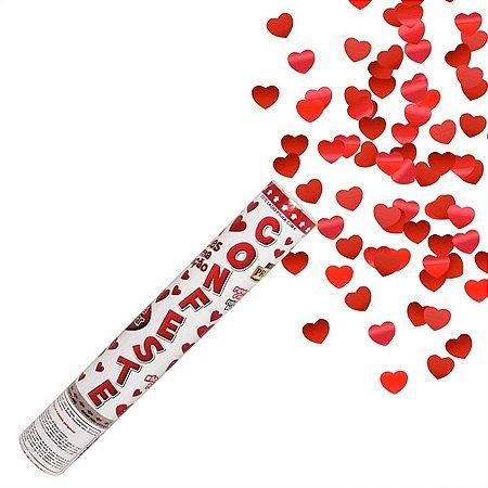 Lança Confete Coração Metalizado 30 cm