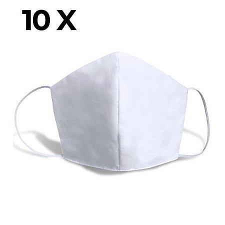 Mascara de Proteção TNT com elástico kit com 10 unid