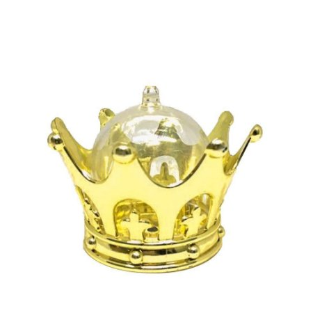 Mini Cúpula Coroa Luxo para Lembrancinhas kit com 12 unid