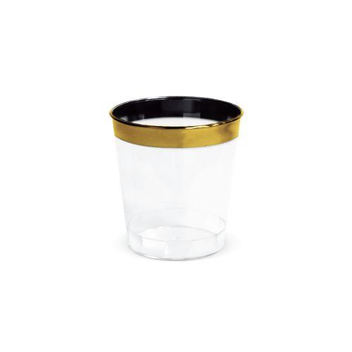 Potinho Mini 25 ml para Brigadeiro Borda Dourada pct 10 unid