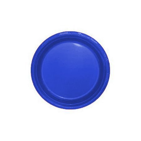 Pratos Descartáveis Simples 15 cm Azul Escuro com 10 unid