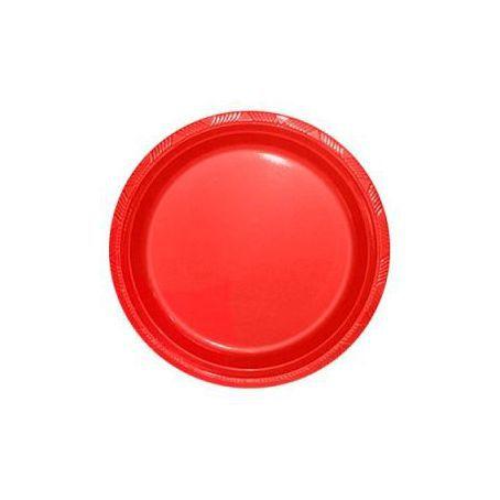 Pratos Descartáveis Simples 15 cm Vermelho com 10 unid