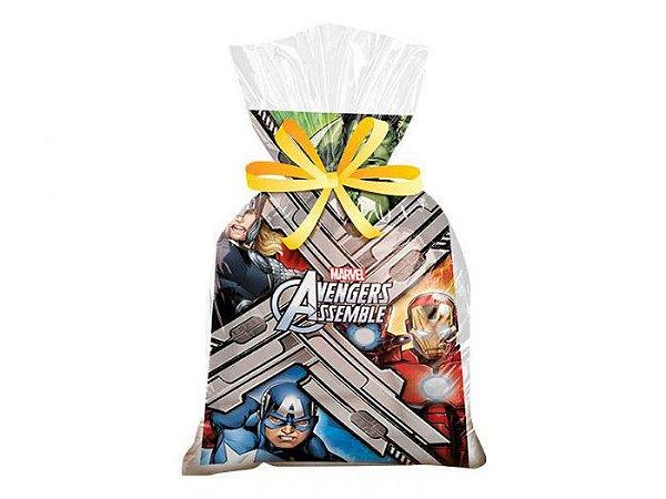 Sacola Surpresa para Lembrancinhas Avengers - kit com 8 unid