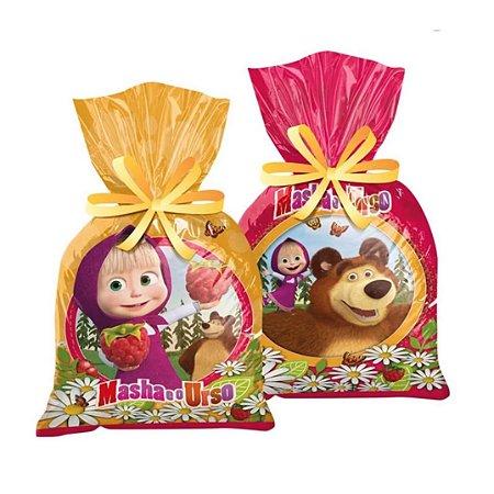 Sacola Surpresa para Lembrancinhas Festa Masha e o Urso pct com 8 unid