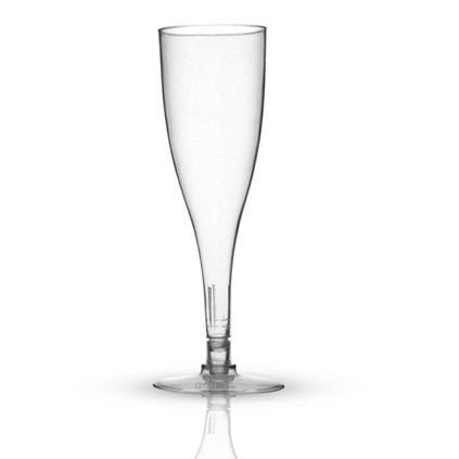 Taça de acrílico para Champagne kit com 5 unid