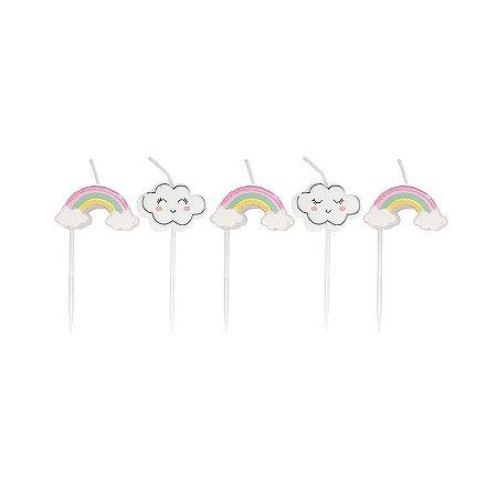 Vela de Aniversário 2D pedacinho do Céu kit com 5 velas