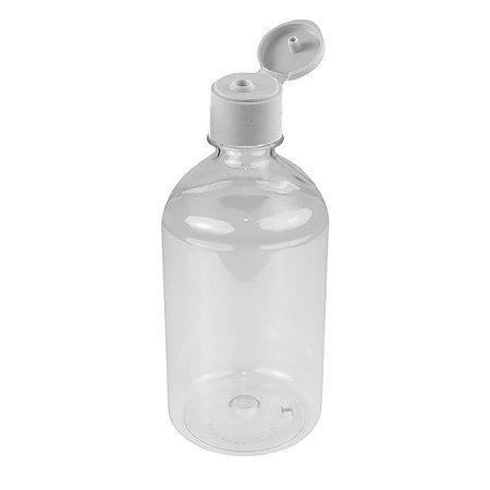 Frasco Plástico PET 500 ml Flip Top kit com 10 unid