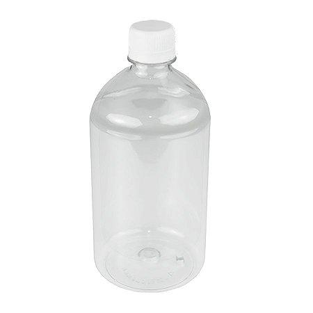 Frasco plástico de 500 ml para refil tampa rosca lacre kit com 10 unid
