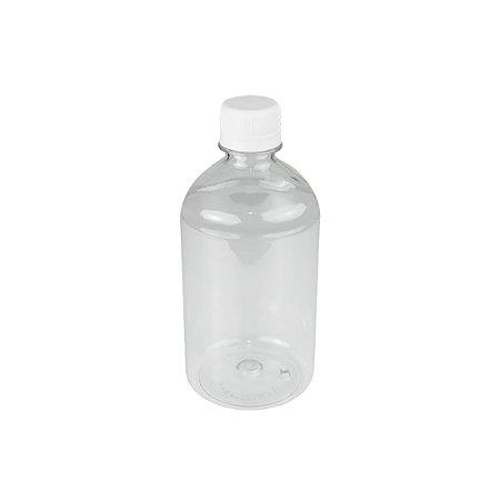 Frasco plástico de 250 ml para refil tampa rosca lacre kit com 10 unid