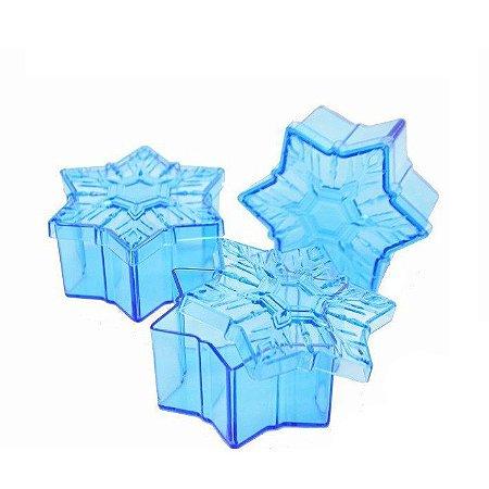 Caixinha Acrílica Floco de Neve Frozen kit com 10 unid