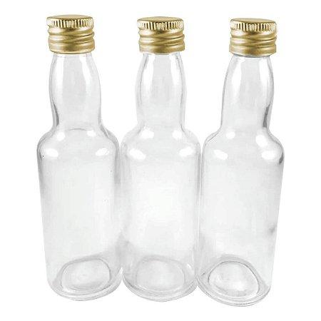 Garrafinha de Vidro 60 ml Tampa de Metal 10 unid
